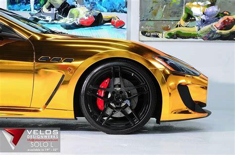 gold maserati logo maserati grancabrio gold from velos designwerks