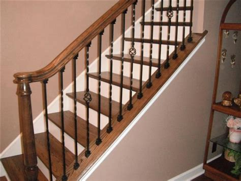 How To Install Banister On Stairs by Stairs And Railings Installing A Stair Railing And
