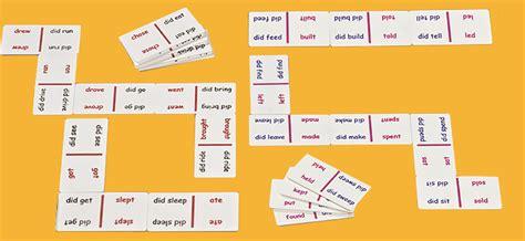 imagenes de juegos en ingles 2 dominos verbos irregulares material escolar y did 225 ctico
