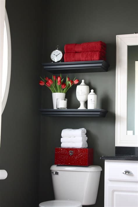 gray and red bathroom ideas the yellow cape cod my powder room makeover reveal and a