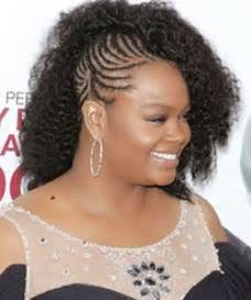 half head braids hairstyles curly celebrity love get jill scott s half braided look