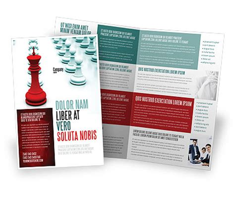 ready made templates for brochures chess king ready to fight brochure template design and