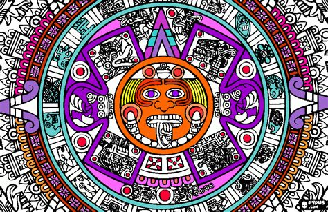 aztec sunstone coloring page printable aztec sunstone