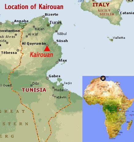 kairouan map kairouan tunisia world heritage