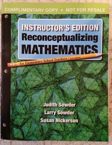 reconceptualizing mathematics for elementary school teachers emily goeden just launched on in usa