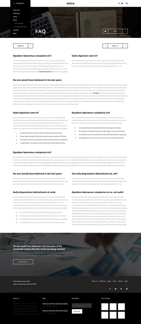 themeforest faq exico corporate html template by createit pl themeforest