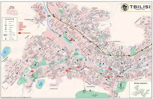 tbilisi tourist map tbilisi mappery
