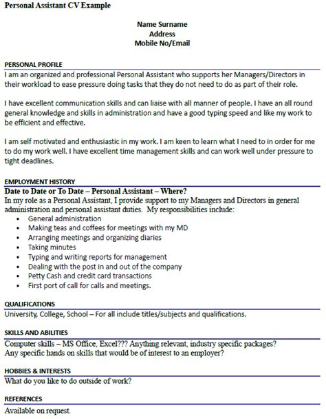 personal assistant cover letter 6 examples in word pdf