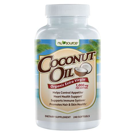 coconut oil americas best source for buying coconut oil new nusource coconut oil dietary supplement 240 ct ebay