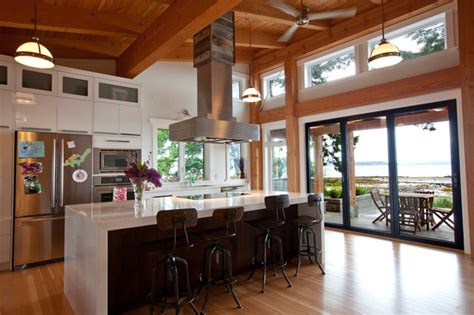 kitchen with timber frame ceiling contemporary kitchen