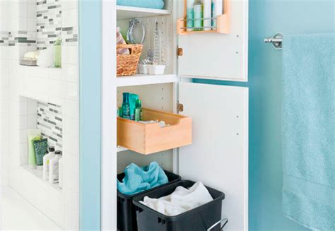 Storage Solutions Small Bathroom Decluttered Bathroom Closet
