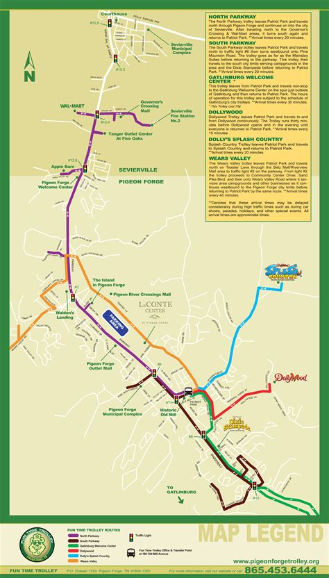 dollywood map city of pigeon forge tennessee