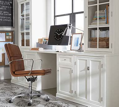 logan small office suite  cabinet doors glass towers