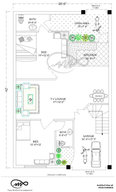 7 5 46 size houses map design 27x36 1000 square 3 5 marla house plan and map