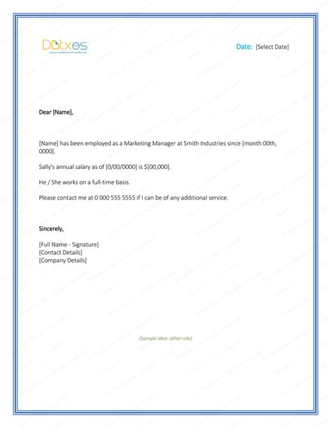Employment Verification Letter Word Format Employment Verification Letter 4 Printable Formats Sles