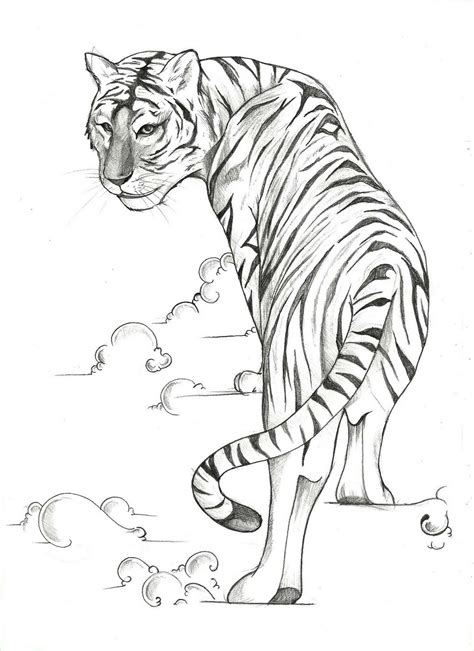 tiger tattoo outline designs minnon tiger