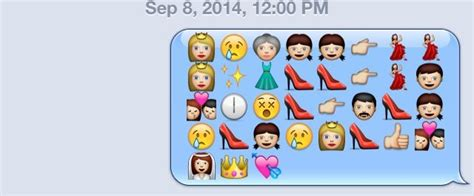 disney film in emoji disney movies as told through emoji cinderella disney