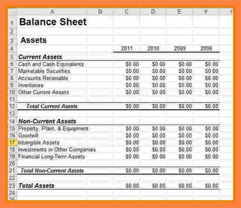 business statement template 8 business financial statement template excel statement