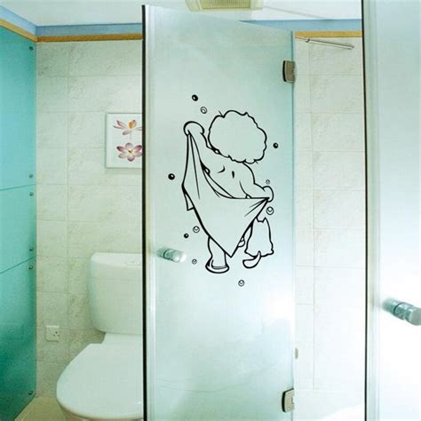 bathroom glass stickers shower door stickers promotion shop for promotional shower