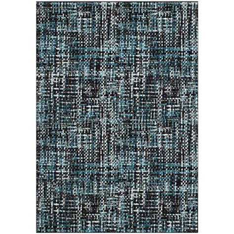 Safavieh Porcello Rug by Safavieh Porcello Charcoal Blue 8 Ft X 10 Ft Area Rug
