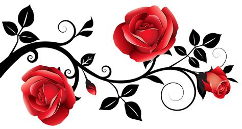 pink rose border clip art free