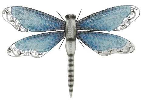 dragonfly wall metal decor sculpture hanging garden