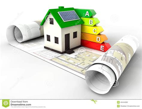 house energy efficiency energy efficiency rating house stock illustration image