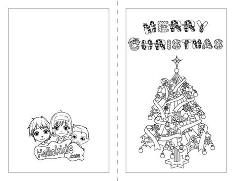 printable christmas cards for kids to color christmas tree coloring pages hellokids com