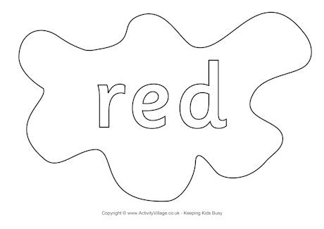 coloring page for red red colouring page splats