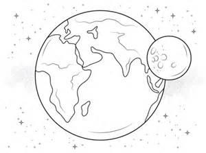 disegno terra luna da colorare disegni da colorare stampare gratis
