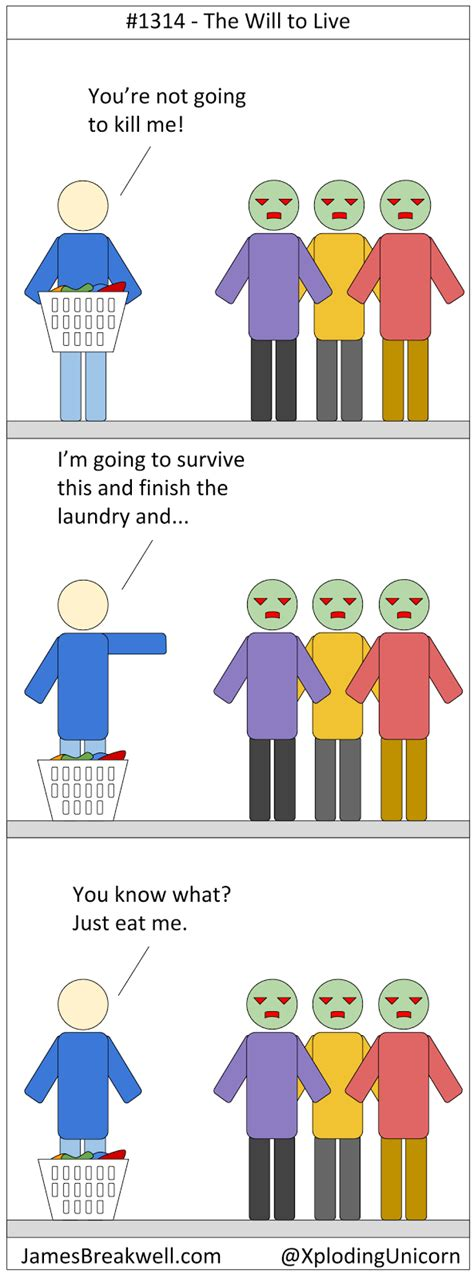 September James Breakwell S Unbelievably Bad Webcomic The Will To Live