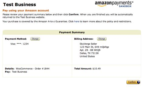 amazon payment amazon simple pay woothemes documentation