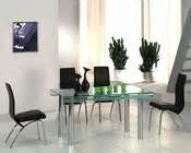 Metal Dining Table W Glass Top Ol Dt17 Metal Dining Set W Glass Top Ol Dt29s