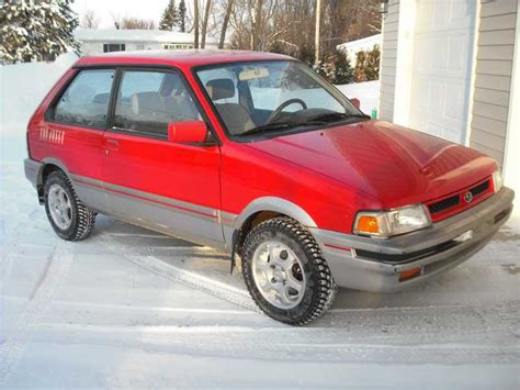 subaru justy turbo 1989 subaru justy 4x4 56k no way turbo original subaru