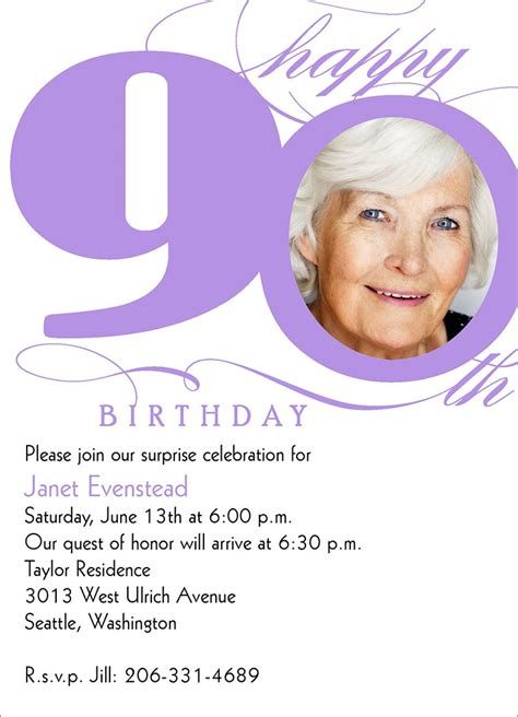 90th birthday invitations templates 90th milestone birthday birthday invitations from