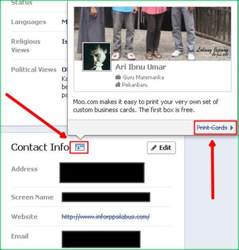 membuat kartu nama facebook online membuat kartu nama via facebook blog bontang