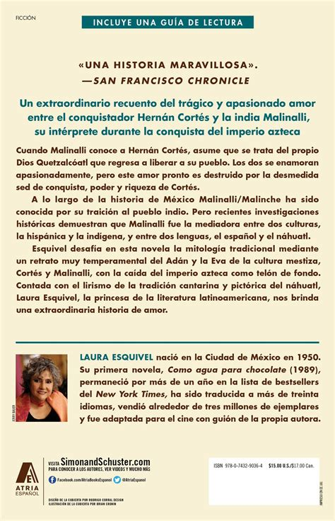 laura esquivel biography in spanish malinche spanish version book by laura esquivel