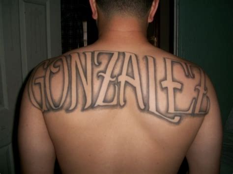 last name tattoo on back last name picture at checkoutmyink