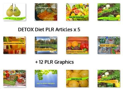 Detox Diet Articles plr content free and fresh to your inbox