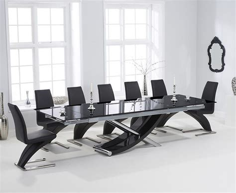 cm black glass dining table  black  chairs