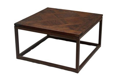 Wood And Metal Small Coffee Table From Terra Nova Designs Small Metal Coffee Table