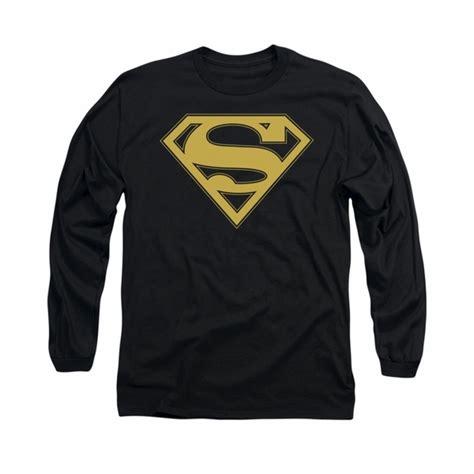 Superman Gold Longsleeve superman shirt gold shield sleeve black t shirt