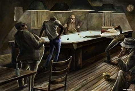ernie barnes the bench ernie barnes pool hall circa 1970 oil on canvas