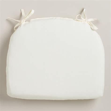 Patio Chair Cushions White White Cadiz Outdoor Chair Cushion World Market