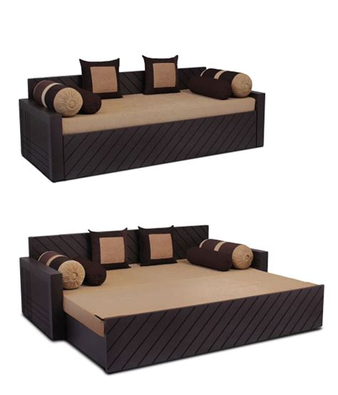 sofa cum bed in india auspicious libford sofa cum bed brown color with two