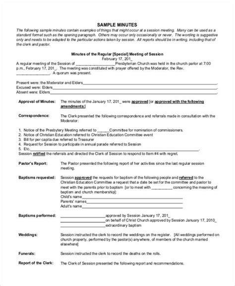 11 Church Meeting Minutes Templates Free Premium Church Report Template