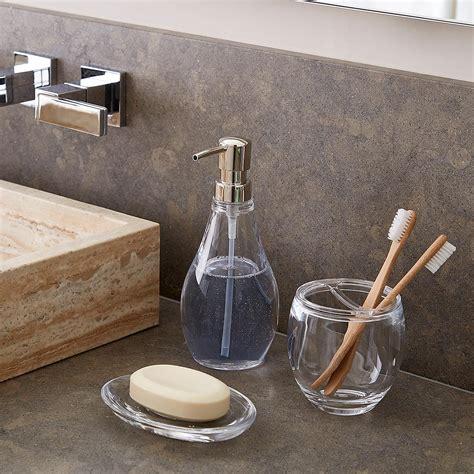 acrylic bathroom set umbra droplet acrylic countertop bathroom set the container store
