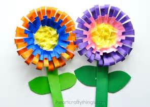 Craft Things For Kids - bright and colorful flower craft for kids i heart crafty things