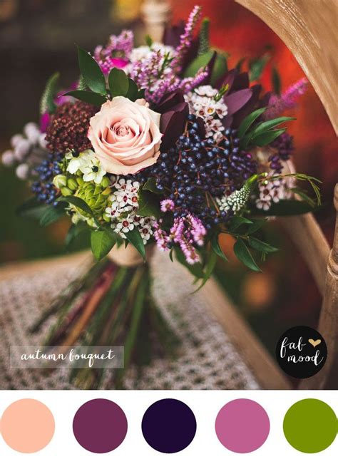 magnificent autumn wedding bouquets purple wedding