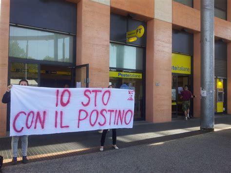 ufficio postale sesto san 28 ottobre presidio dei lavoratori di poste italiane a